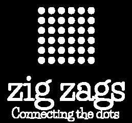 Zig zags logo white